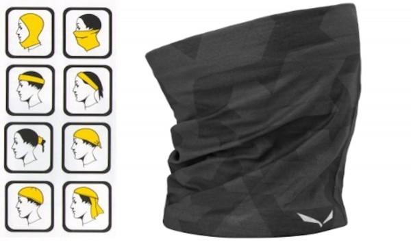 Salewa Icono Headband Stirnband Schlauchschal Black