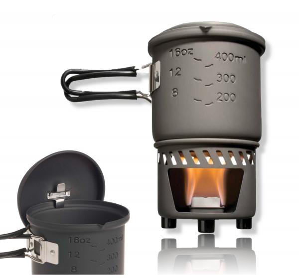 Camping Kocher für Trockenbrennstoff Esbit Kochset Kocher und Topf
