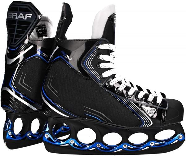 tblade Schlittschuhe Graf Pk150 Blue Eishockey und Freestyle t blade Schlittschuhe Eislaufen-