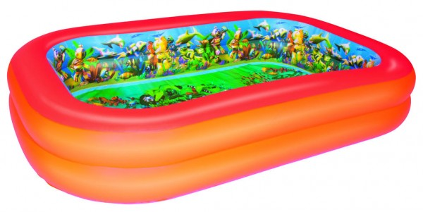 3D Adventure Family Pool Planschbecken 262 x 175 x 51 cm