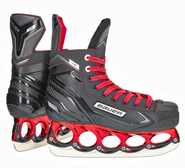 t blade Schlittschuhe Bauer NS Red Edition t-blade Eishockey Schlittschuh tblade