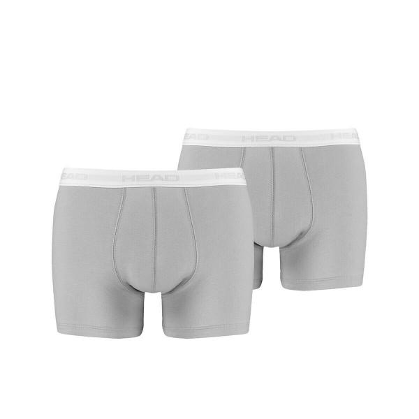 Head Boxershorts 2 Pack Grau Unterhosen Herren Boxer-Shorts