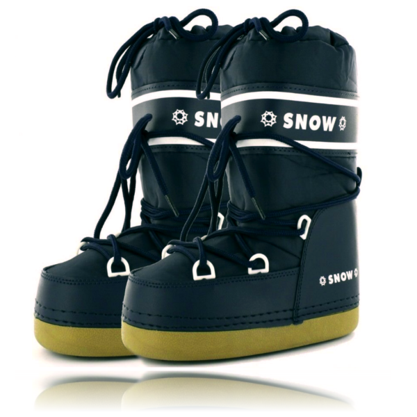Snowboots Blau Schneeschuhe Schneestiefel Winterstiefel für kalte Tage Robuste Sohle
