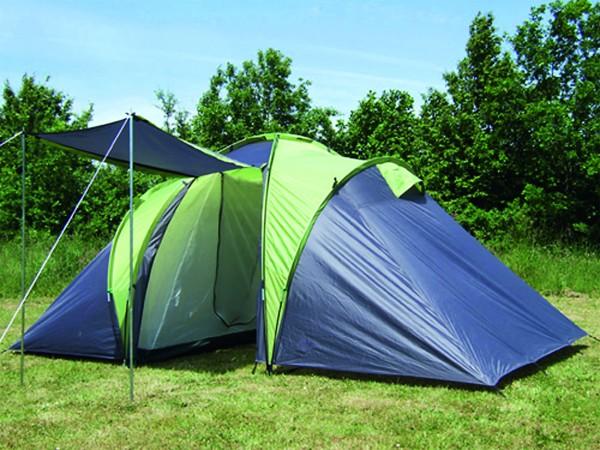 Zelt Sierra 4 Personen Familienzelt mit 2 Schlafkabinen