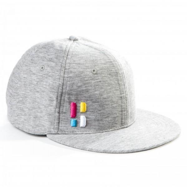 Poederbaas Cap Grau für Damen und Herren - Baseball Kappe Mütze verstellbar stylisch und hochwertig