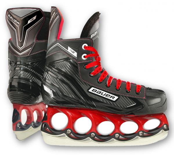 t blade Schlittschuhe Bauer Vapor NS Red Edition t-blade Eishockey Schlittschuh
