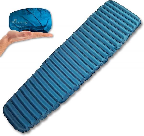 FRILUFTS ELPHIN Blue AIR 6.0 L - Isomatte Luftmatratze 670 Gram 196 cm x 63 cm Thermomatte