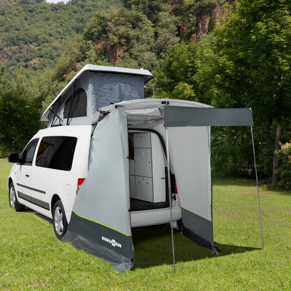BRUNNER Heckzelt Pilote VW Caddy Buszelt für Heckklappe Vorzelt