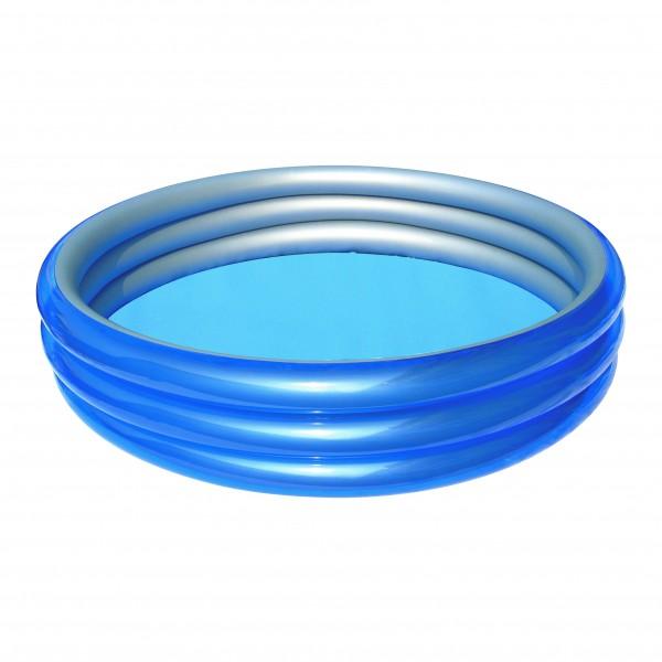 Planschbecken mit 3 Ringen Pool 249 cm x 53 cm Blau