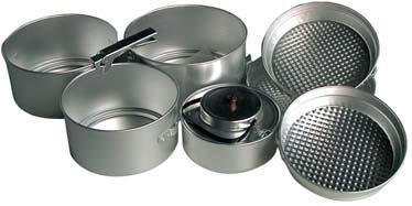 Aluminium Kochgeschirr 8 teilig Töpfe Wasserkocher Pfanne